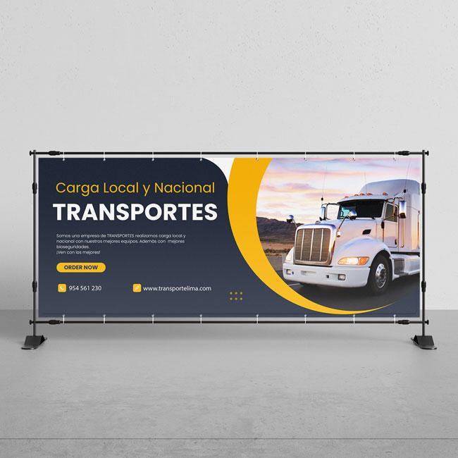 gigantografia para servicio de transportes